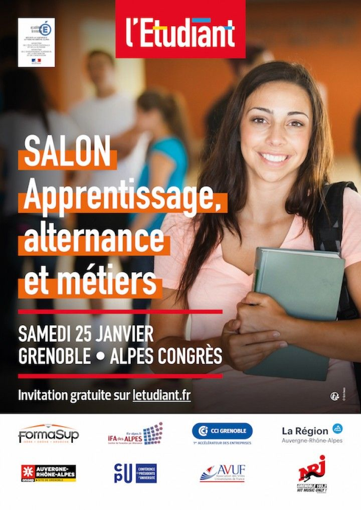 Affiche salon de l'apprentissage 25 janv 2020